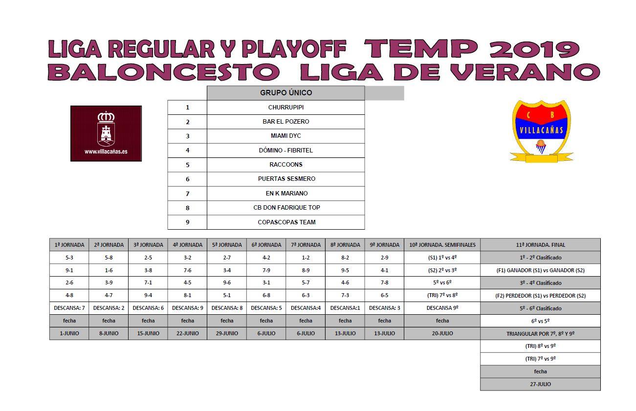 Liga Calendario.Calendario Liga De Verano Baloncesto Ayuntamiento De Villacanas