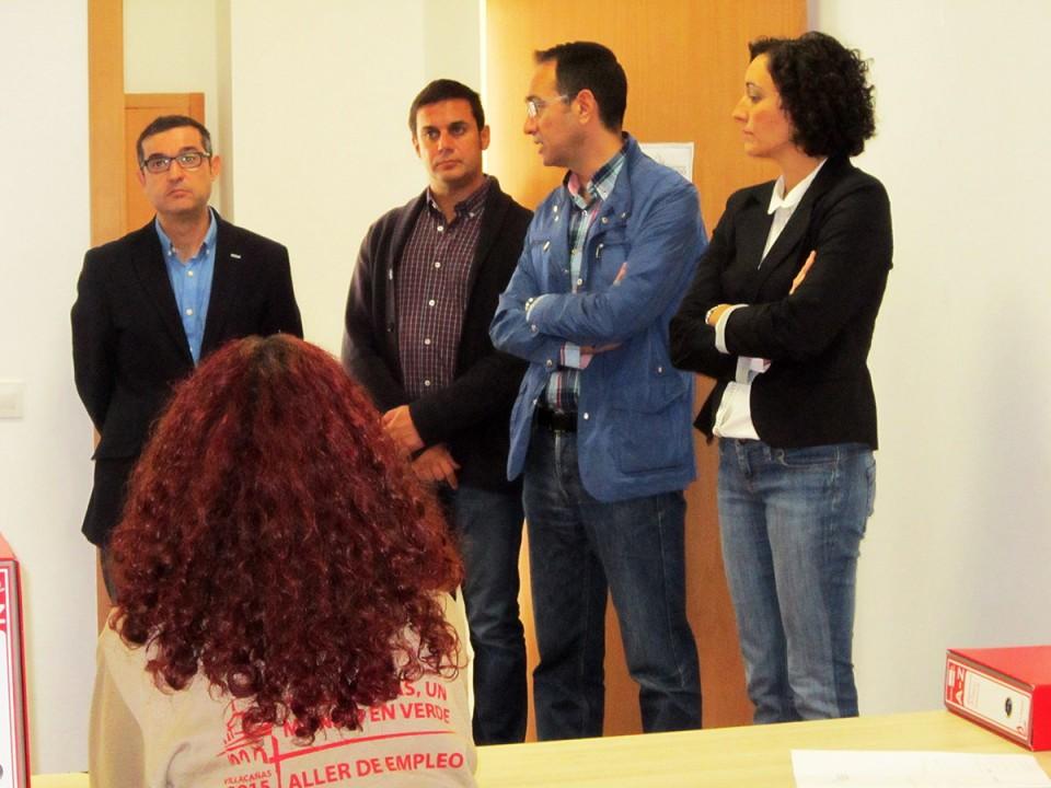 García Aranda y Muñoz destacan la huella que deja en Villacañas el Taller de Empleo de Diputación en Villacañas