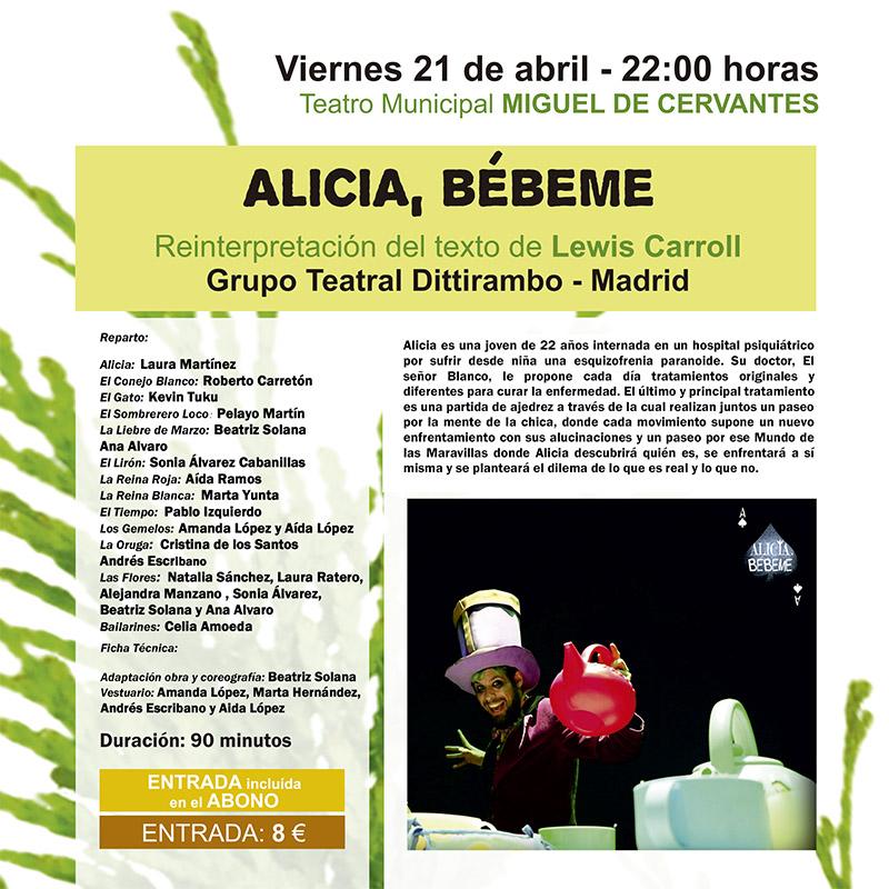 """El musical """"Alicia, bébeme"""", presentación el viernes del 42º Festival de Teatro Aficionado"""