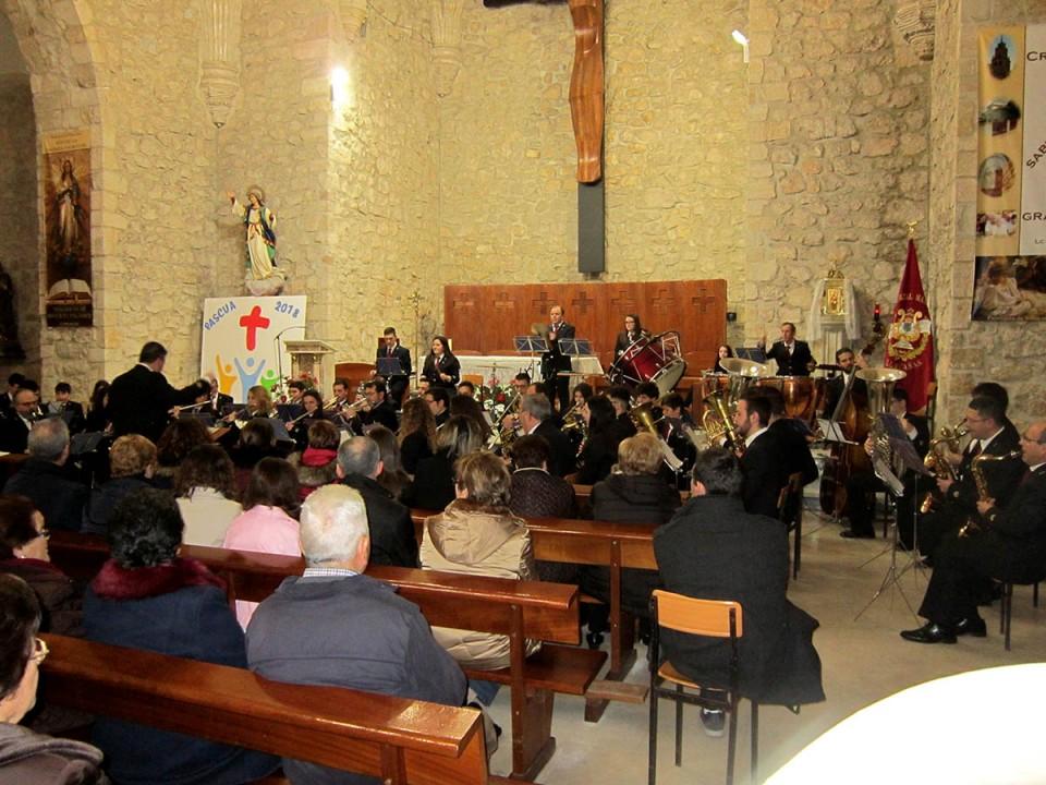 Conciertos de música sacra de la Banda y dos agrupaciones corales