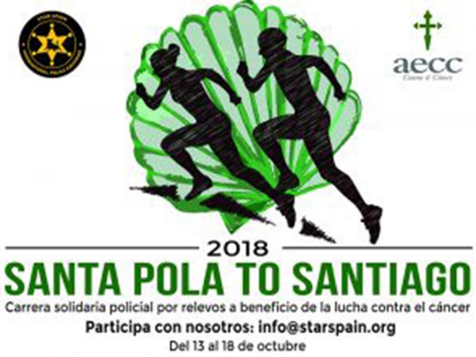 """""""Road to Santiago"""", una iniciativa solidaria de policías españoles contra el cáncer, hizo anoche parada en Villacañas"""