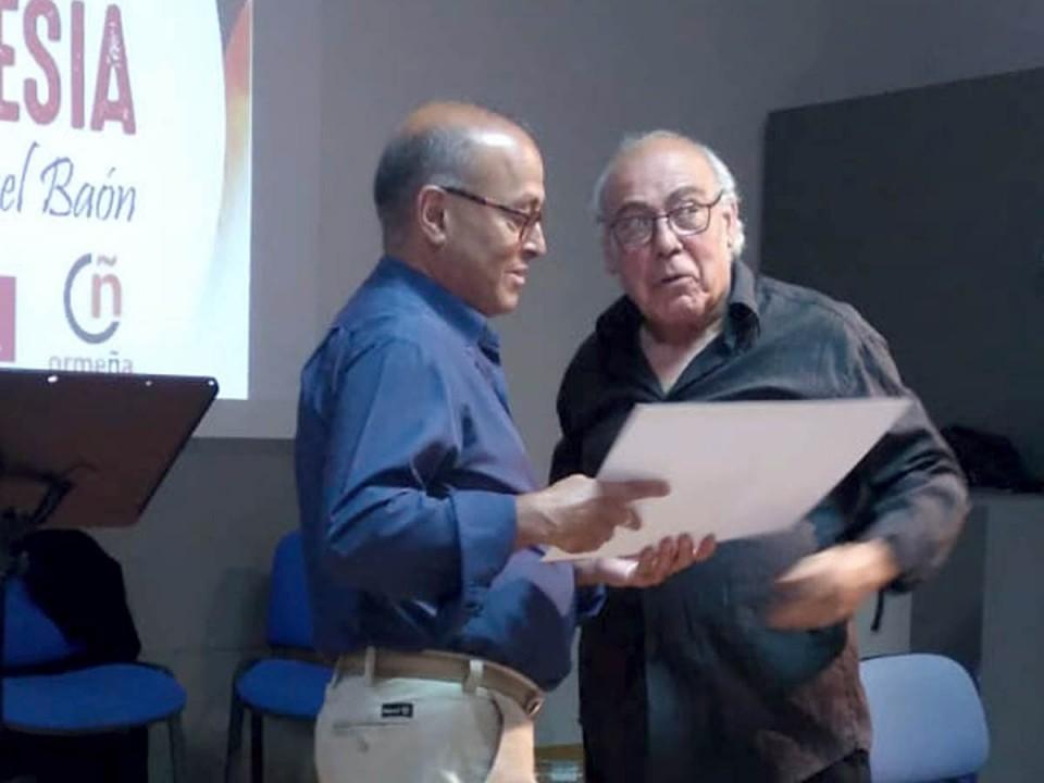 """Juan Molina Guerra y Jesús Espada Jimeno, ganadores del 5º Premio Nacional de Poesía """"Miguel Baón"""""""
