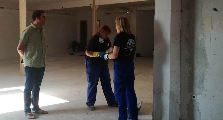 Segunda fase de la rehabilitación del edificio de Unimueble gracias a un Taller de Empleo