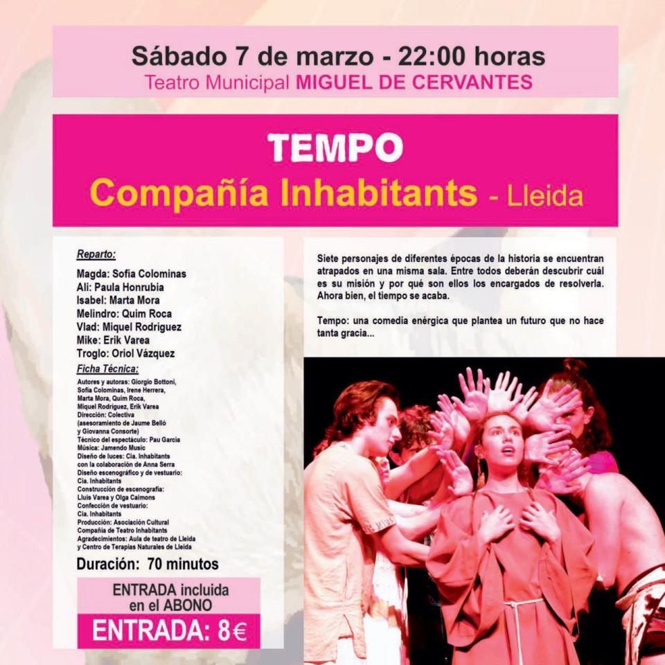 """Siguen a la venta los abonos del Festival de Teatro, que comienza este sábado con la obra """"Tempo"""""""