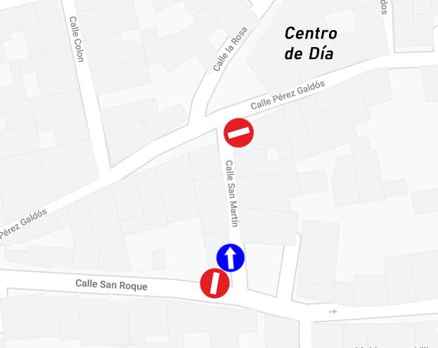Cambio del sentido de la marcha en la calle San Martín