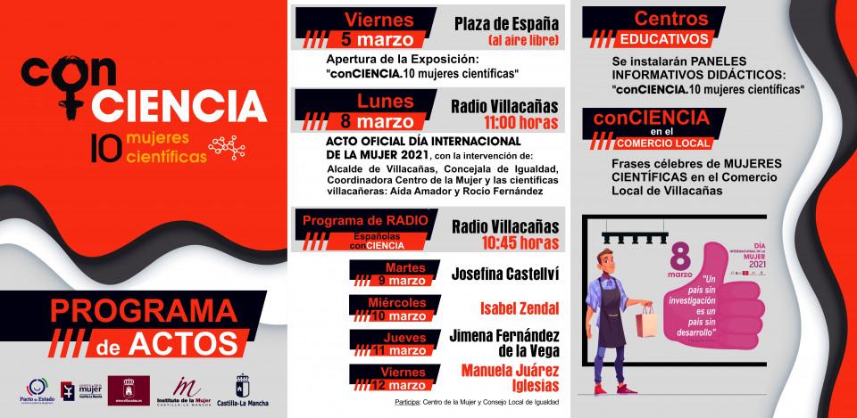 Villacañas se suma a la conmemoración del 8M, Día Internacional de la Mujer, con la mirada puesta en las mujeres científicas