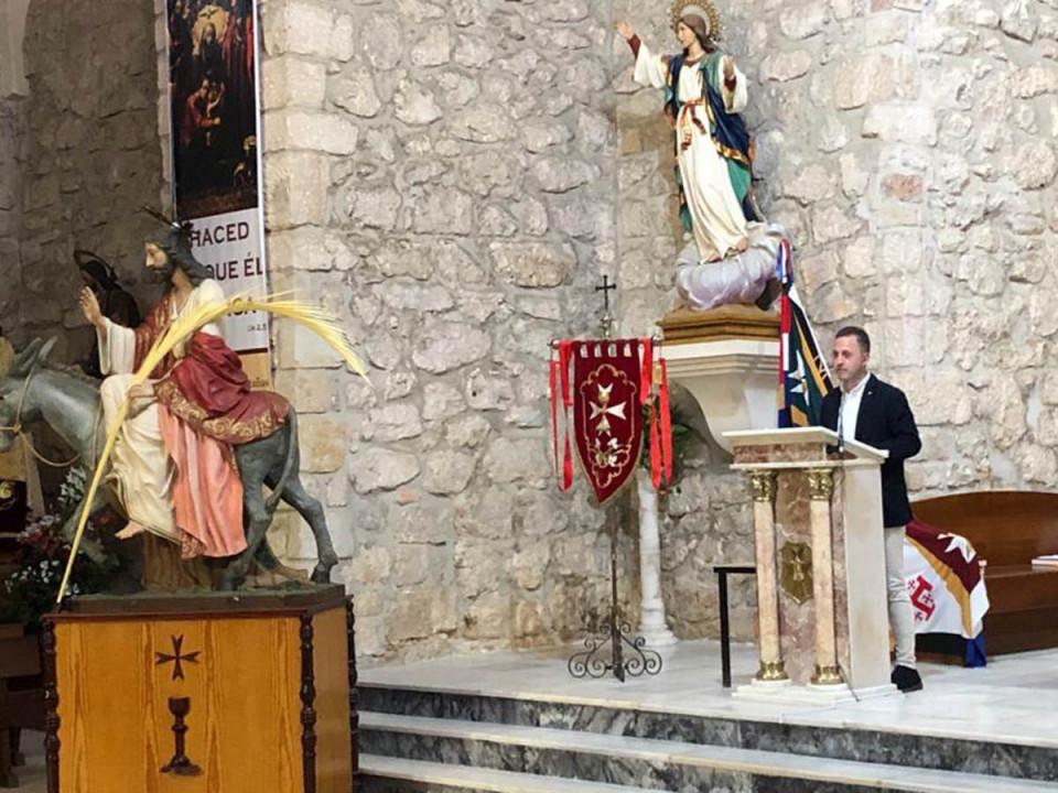 David Raboso ofreció este Domingo de Ramos un intenso pregón de Semana Santa
