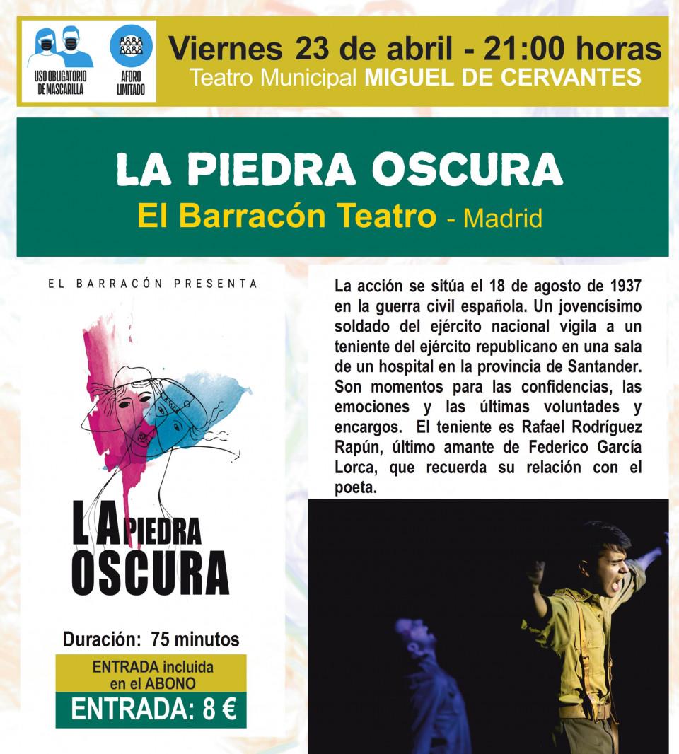 """""""La piedra oscura"""" y """"Damnificados"""" cierran el programa del 46º Festival de Teatro Aficionado de Villacañas"""