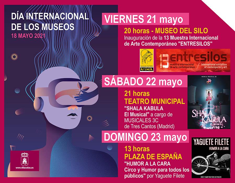 Villacañas celebrará el Día Internacional de los Museos con un fin de semana cultural: arte contemporáneo en el Silo, un musical en el teatro y circo y humor en la plaza