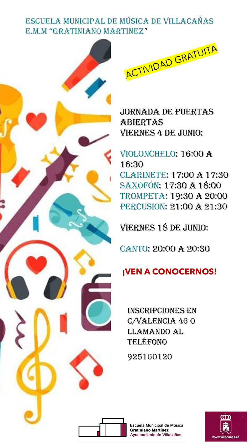 La Escuela de Música abrirá el 11 de junio el plazo de matrícula para nuevos alumnos